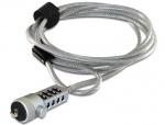 Cablu anti furt pentru laptop cu cifru, 20643