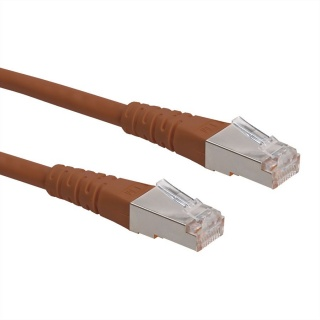 Cablu de retea SFTP cat 6 2m Maro, Roline 21.15.1348