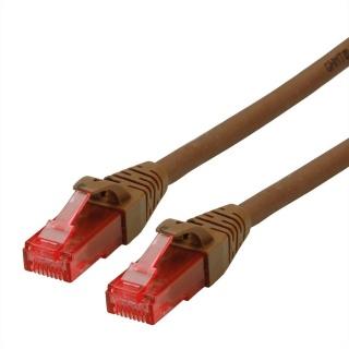 Cablu de retea UTP Cat.6 Component Level LSOH maro 1.5m, Roline 21.15.2584