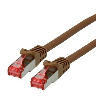Cablu de retea SFTP cat 6 Component Level LSOH maro 0.5m, Roline 21.15.2680