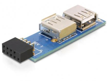 Adaptor pin header USB la 2 x USB 2.0 stanga/dreapta, Delock 41820