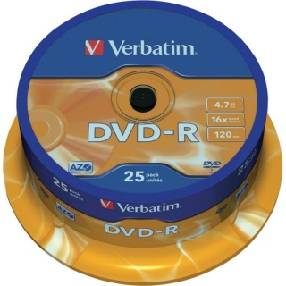 DVD-R Verbatim Matt Silver SL 16X 4.7GB 25 buc