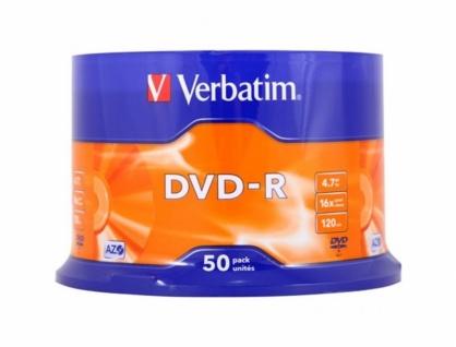 DVD-R Verbatim Matt Silver SL 16X 4.7GB 50 buc