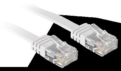 Cablu de retea cat 6 UTP Flat alb 3m, Lindy L47503