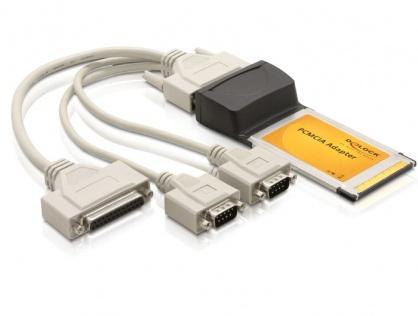Placa PCMCIA CardBus la 2x serial + 1x paralel, Delock 61623