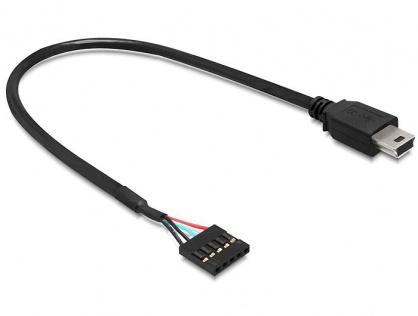 Cablu USB 2.0 pin header la USB mini M-T 30 cm, Delock 83170