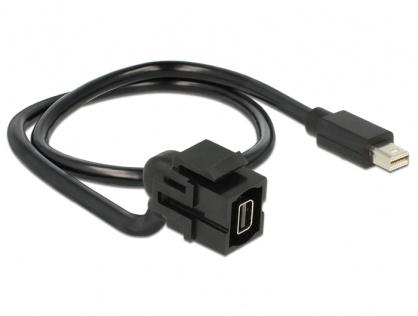 Modul Keystone mini Displayport M-T 110 grade cu cablu, Delock 86374