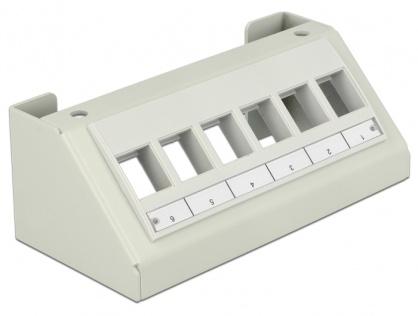 Carcasa Multimedia pentru Keystone 6 porturi Gri, Delock 86218
