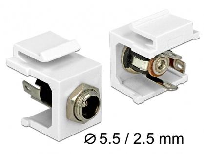 Modul Keystone DC 5.5 x 2.5 mm socket, Delock 86373