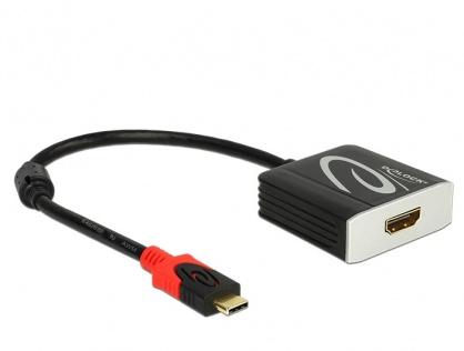 Adaptor USB tip C la HDMI T-M 4K 60 Hz (DP Alt Mode), Delock 62730