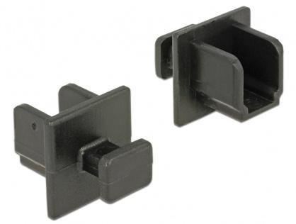 Protectie impotriva prafului pentru conector USB-B 3.0 mama cu prindere set 10 buc Negru, Delock 64010