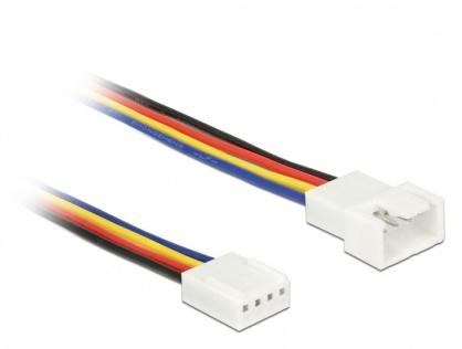 Cablu prelungitor alimentare ventilator PWM 4 pini T-M 30cm, Delock 85361