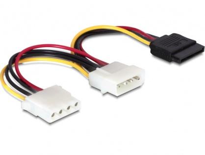 Cablu alimentare Molex la Molex + SATA T-M, Delock 60103