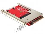 """Convertor IDE 44 Pini la mSATA + frame 2.5"""" (pana la 7 mm), Delock 62495"""