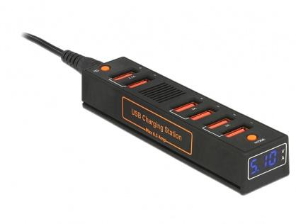 Statie de incarcare (incarcator priza) 6 Porturi USB 6.5 A EU / UK / USA cu LED, Navilock 62624
