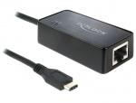 Adaptor SuperSpeed USB (USB 3.1, Gen 1) USB tip C la Gigabit LAN, Delock 62642