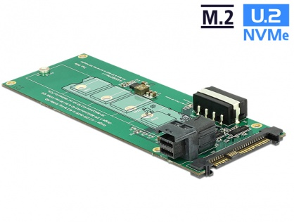 Convertor U.2 SFF-8639 / SFF-8643 NVMe la 1 x M.2 Key M, Delock 62945