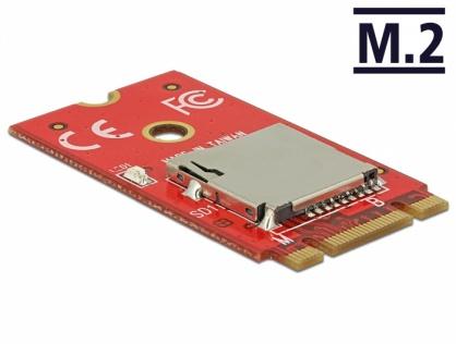 Adaptor M.2 Key B+M la 1 x Micro SD Card Slot, Delock 62983