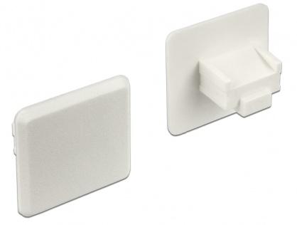 Protectie impotriva prafului pentru conector RJ45 mama transparent set 10 buc, Delock 64019