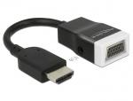 Adaptor HDMI la VGA cu Audio T-M Negru/Alb, Delock 65587