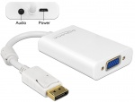 Adaptor Displayport la VGA 15 pini T-M, Audio + Power, Delock 65592