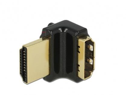 Adaptor HDMI-A T-M unghi 90 grade sus 4K carcasa metalica, Delock 65663