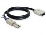 Cablu mini SAS SFF-8088 la Infiniband SFF-8470 1m, Delock 83062