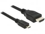 Cablu micro USB-B MHL 3.0 la HDMI 4k 1m, Delock 83648