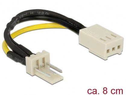 Cablu de alimentare ventilator 3 pini T-M Reduction of rotation speed, Delock 83656
