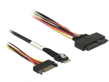 Cablu Slim SAS SFF-8654 4i la SAS SFF-8639 50cm, Delock 85082