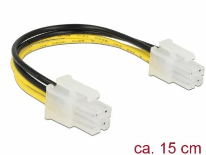 Cablu de alimentare P4 T-T 0.15m, Delock 85450