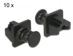 Set 10 buc protectie impotriva prafului pentru RJ45 Negru, Delock 86176