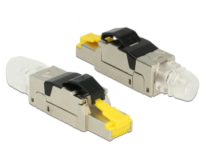 Conector de ansamblat RJ45 cat 6A metal, Delock 86285
