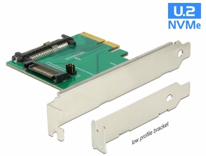 PCI Express la un port intern tata U.2 NVMe SFF-8639, Delock 89673