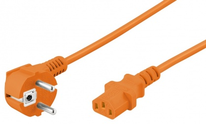 Cablu alimentare PC IEC C13 2m Orange, Goobay W95288
