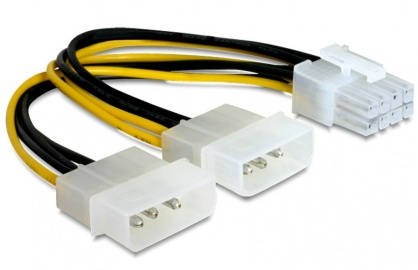 Cablu alimentare PCI Express 8 pini la 2 x Molex, Gembird CC-PSU-81