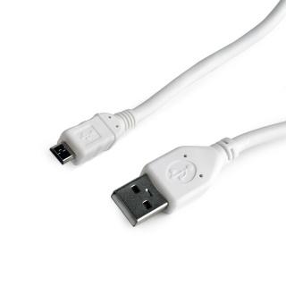 Cablu USB 2.0 la micro USB-B 0.5m Alb, Gembird CCP-mUSB2-AMBM-W-0.5M