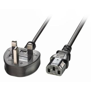 Cablu de alimentare PC C13 la UK 2m Negru, Lindy L30433