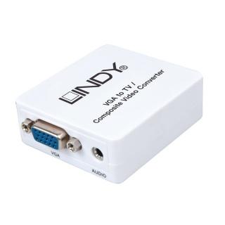 Convertor VGA la 3 x RCA alimentare USB (PC to TV), Lindy L32544