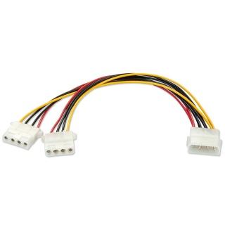 Cablu de alimentare Molex la 2 x Molex 0.25m, Lindy L33126