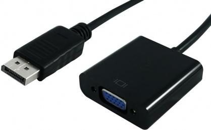 Adaptor Displayport la VGA T-M Negru, S3201