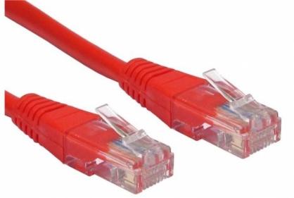 Cablu de retea UTP cat 5e 5m rosu, Spacer SP-PT-CAT5-5M-R