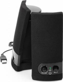 Boxe 2.0 RMS 3Wx2, control volum Negru, Spacer SPB-216