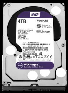 """HDD 4TB PURPLE 64MB S-ATA3 """"4PURZ"""" WD SURVEILLANCE"""