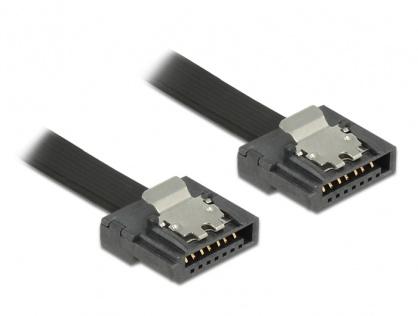 Cablu SATA III FLEXI 6 Gb/s 50 cm black metal, Delock 83841