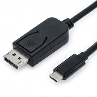 Cablu USB tip C la Displayport v1.2 4K T-T 2m Negru, Value 11.99.5846