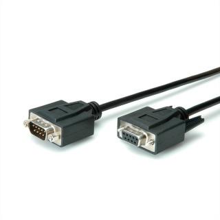 Cablu prelungitor DB9 T-M 1m negru, Value 11.99.6210