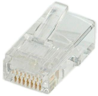 Set 10 buc conectori RJ45 UTP cat.5, Roline 12.01.1087
