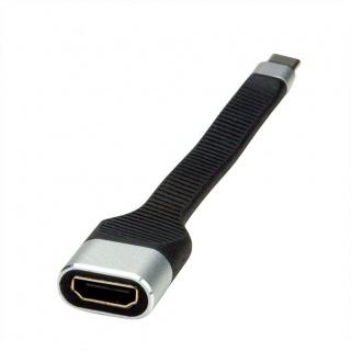 Adaptor USB tip C la HDMI 4K T-M Negru 0.13m, Roline 12.03.3212