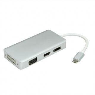 Adaptor USB tip C la VGA / HDMI / DVI / Displayport T-M, Value 12.99.3230